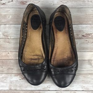 FRYE | Black Leather Ballet Flats